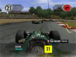 In game image of F1 2002 on the Microsoft Xbox.