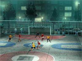 In game image of FIFA Street on the Microsoft Xbox.