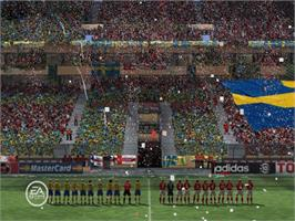 In game image of FIFA World Cup: Germany 2006 on the Microsoft Xbox.