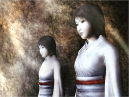 In game image of Fatal Frame II: Crimson Butterfly on the Microsoft Xbox.