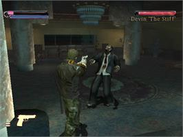In game image of Final Fight: Streetwise on the Microsoft Xbox.