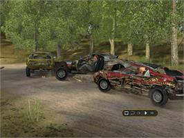 In game image of FlatOut on the Microsoft Xbox.
