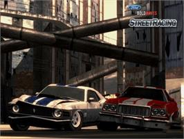 In game image of Ford Bold Moves Street Racing on the Microsoft Xbox.