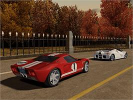 In game image of Ford Racing 3 on the Microsoft Xbox.