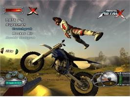 In game image of Freestyle MetalX on the Microsoft Xbox.