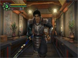 In game image of Genma Onimusha on the Microsoft Xbox.