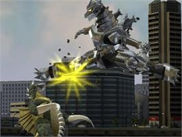 In game image of Godzilla: Save the Earth on the Microsoft Xbox.