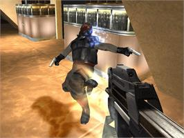 In game image of GoldenEye: Rogue Agent on the Microsoft Xbox.