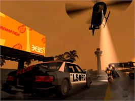 In game image of Grand Theft Auto: The Trilogy on the Microsoft Xbox.