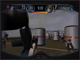In game image of Greg Hastings' Tournament Paintball MAX'D on the Microsoft Xbox.