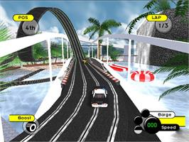 In game image of GrooveRider:  Slot Car Thunder on the Microsoft Xbox.
