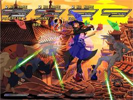 In game image of Guilty Gear Isuka on the Microsoft Xbox.