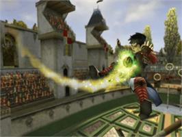 In game image of Harry Potter: Quidditch World Cup on the Microsoft Xbox.