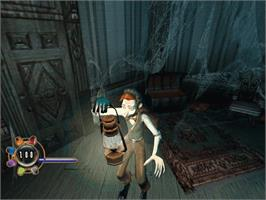 In game image of Haunted Mansion on the Microsoft Xbox.