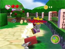 In game image of Hello Kitty: Roller Rescue on the Microsoft Xbox.