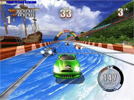 In game image of Hot Wheels: Stunt Track Challenge on the Microsoft Xbox.