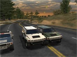 In game image of Hummer: Badlands on the Microsoft Xbox.