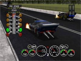 In game image of IHRA Drag Racing 2004 on the Microsoft Xbox.
