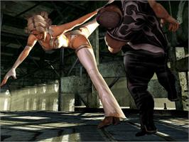 In game image of Kakuto Chojin: Back Alley Brutal on the Microsoft Xbox.