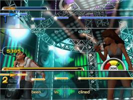 In game image of Karaoke Revolution Party on the Microsoft Xbox.