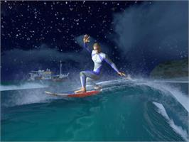 In game image of Kelly Slater's Pro Surfer on the Microsoft Xbox.