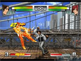 In game image of King of Fighters: Neowave on the Microsoft Xbox.