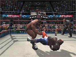 In game image of Legends of Wrestling on the Microsoft Xbox.