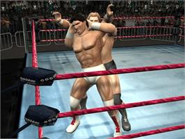 In game image of Legends of Wrestling 2 on the Microsoft Xbox.
