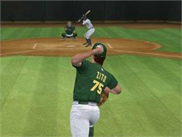 In game image of MVP Baseball 2003 on the Microsoft Xbox.
