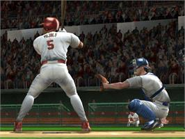 In game image of MVP Baseball 2004 on the Microsoft Xbox.
