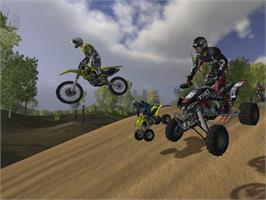 In game image of MX vs. ATV Unleashed on the Microsoft Xbox.