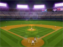 In game image of Major League Baseball 2K5 on the Microsoft Xbox.