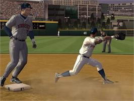 In game image of Major League Baseball 2K6 on the Microsoft Xbox.