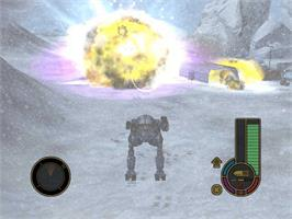 In game image of MechAssault on the Microsoft Xbox.