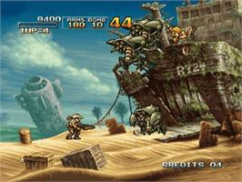 In game image of Metal Slug 3 on the Microsoft Xbox.
