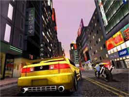 In game image of Midnight Club 2 on the Microsoft Xbox.