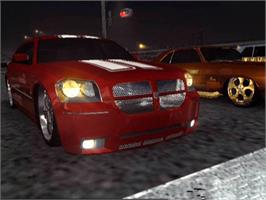 In game image of Midnight Club 3: DUB Edition Remix on the Microsoft Xbox.
