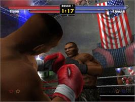 In game image of Mike Tyson Heavyweight Boxing on the Microsoft Xbox.