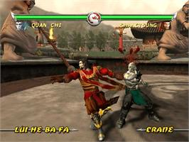 In game image of Mortal Kombat: Deadly Alliance on the Microsoft Xbox.