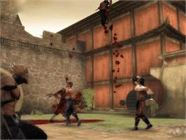 In game image of Mortal Kombat: Shaolin Monks on the Microsoft Xbox.