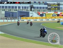 In game image of MotoGP: Ultimate Racing Technology 3 on the Microsoft Xbox.