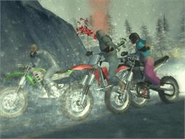 In game image of Motocross Mania 3 on the Microsoft Xbox.