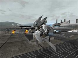 In game image of Murakumo: Renegade Mech Pursuit on the Microsoft Xbox.