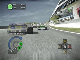In game image of NASCAR 06: Total Team Control on the Microsoft Xbox.