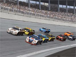 In game image of NASCAR Heat 2002 on the Microsoft Xbox.