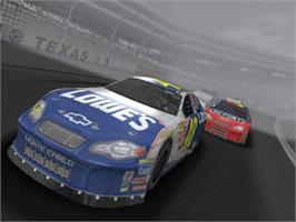 In game image of NASCAR Thunder 2004 on the Microsoft Xbox.