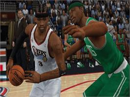 In game image of NBA 2K3 on the Microsoft Xbox.
