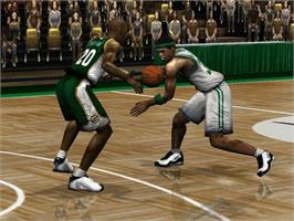 In game image of NBA Inside Drive 2003 on the Microsoft Xbox.