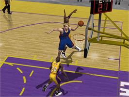 In game image of NBA Inside Drive 2004 on the Microsoft Xbox.