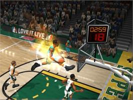 In game image of NBA Jam on the Microsoft Xbox.